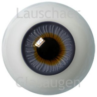 20mm Lauschaer Flat Back Glass Eyes -  Blue Gray with Larger Iris