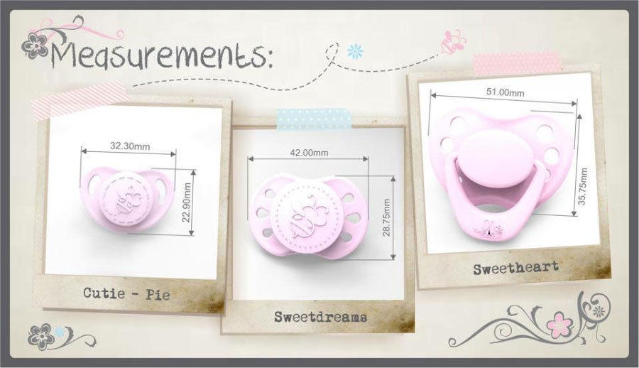 sizes Honeybug Pacifiers
