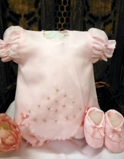 Pink Dress Set with Bloomers & Booties by Will