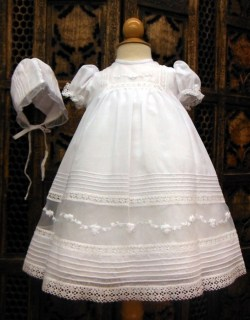 White Gown with Bonnet by Will