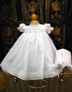 Pink & White Smocked Dress by Will