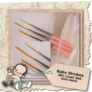 Baby Strokes 3 Pc Liner Set