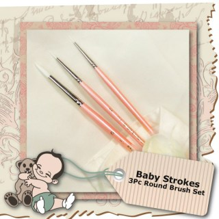 Baby Strokes 3Pc Round Brush Set