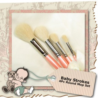 Baby Strokes 4Pc Round Mop Set