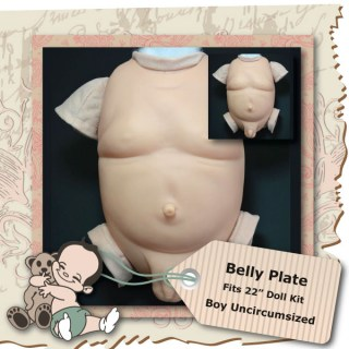 boy uncirmcumsized belly plate 22