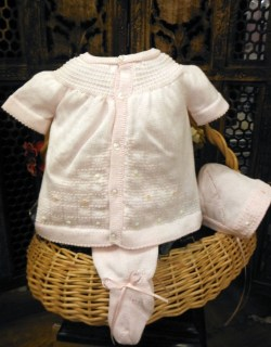 Pink Preemie Knit 3 Piece Set by Will