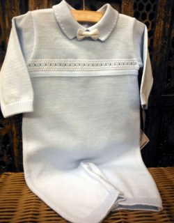 Baby Boy Blue Knit Coverall by Will