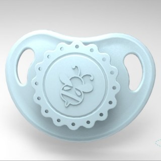 HoneyBug Precious Vintage Pacifier - Pebble Blue
