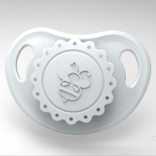 HoneyBug Precious Vintage Pacifier - Silver Cloud