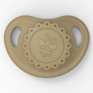 HoneyBug Precious Vintage Pacifier - Cafe Latte